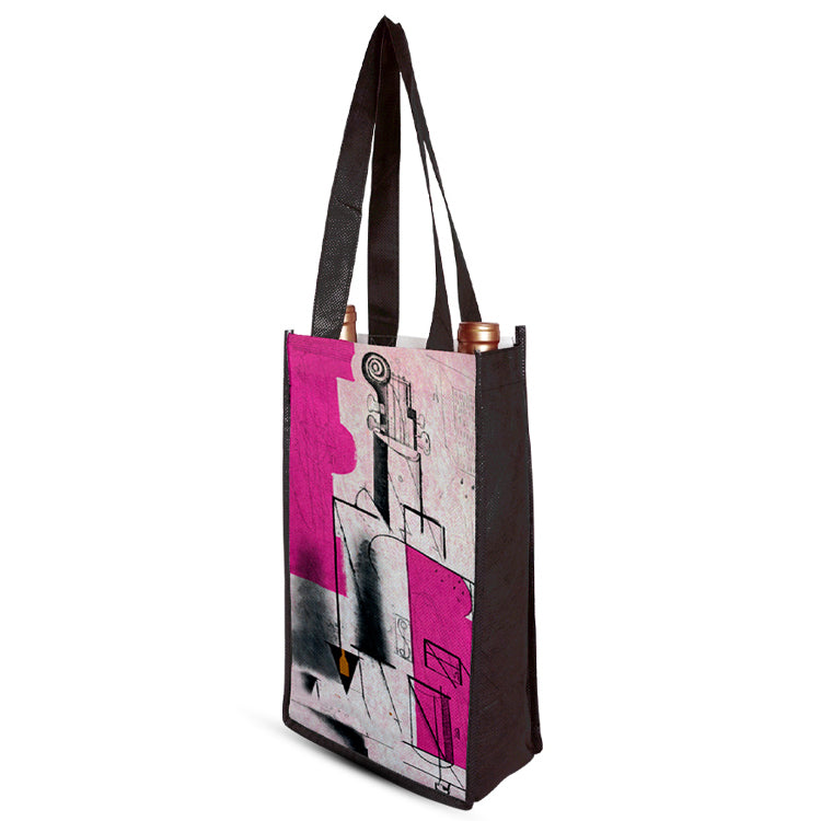 Two Bottle Wine Shopper Bag