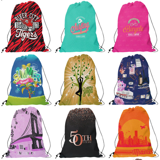 Custom Thin Cord Drawstring Backpack