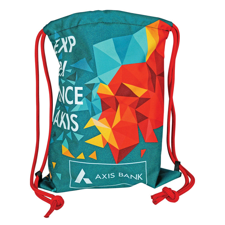 Thick Cord Drawstring Backpack- Sewn in the USA One Side Print