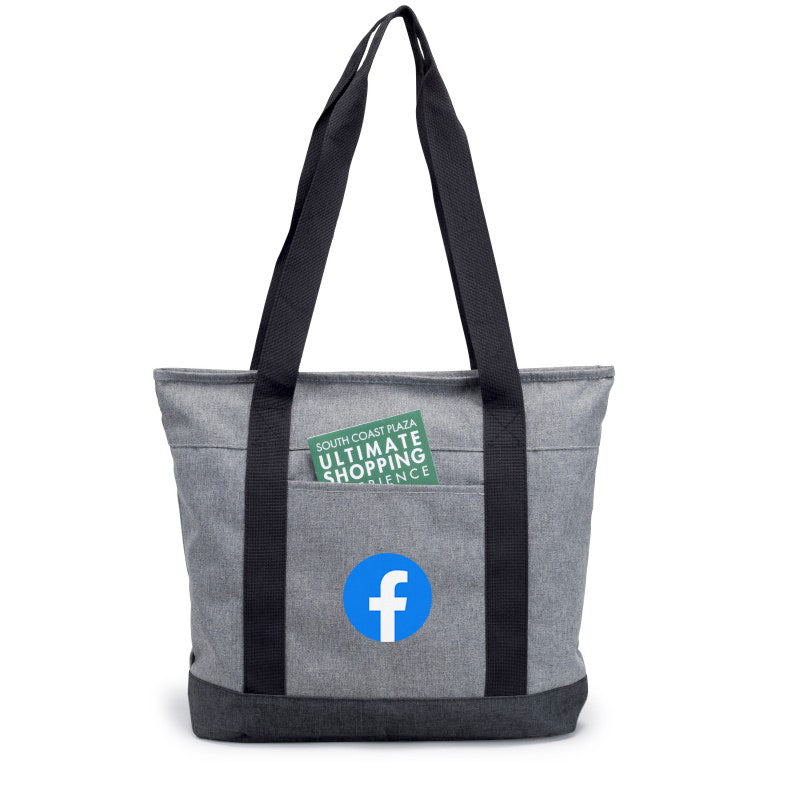 Heathered Zippered Tote Bag