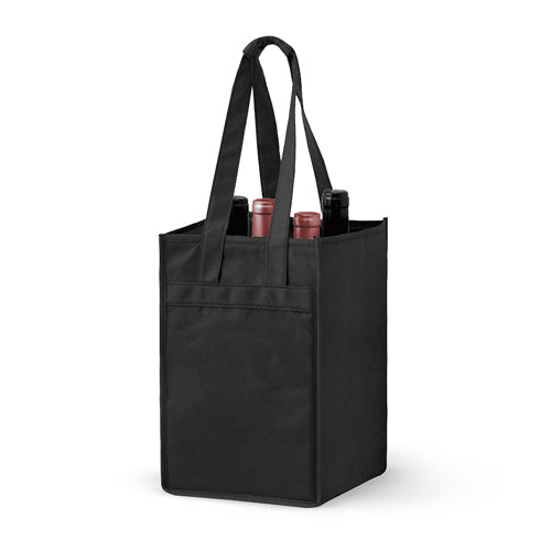 4 Bottle Non-woven Wine Tote Bag *Stocked in the USA* - Blank,[wholesale],[Simply+Green Solutions]