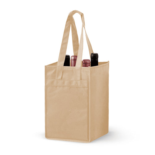 4 Bottle Non-woven Wine Tote Bag *Stocked in the USA* - ,[wholesale],[Simply+Green Solutions]