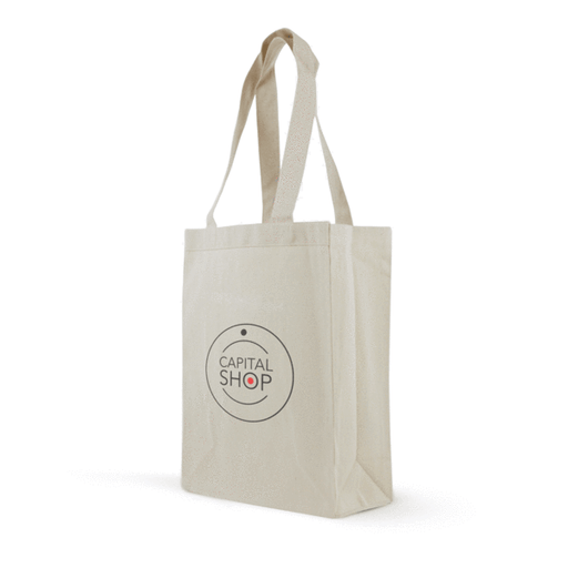 Cotton Canvas Gusset Shopping Bag