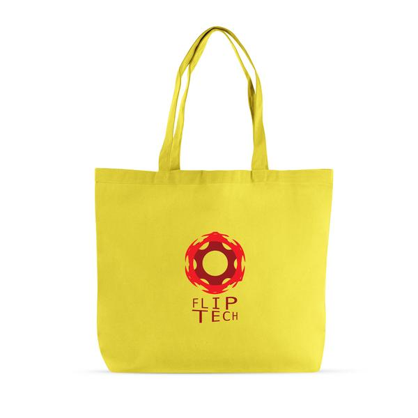 Cotton Canvas Big Tote Bag - Blank