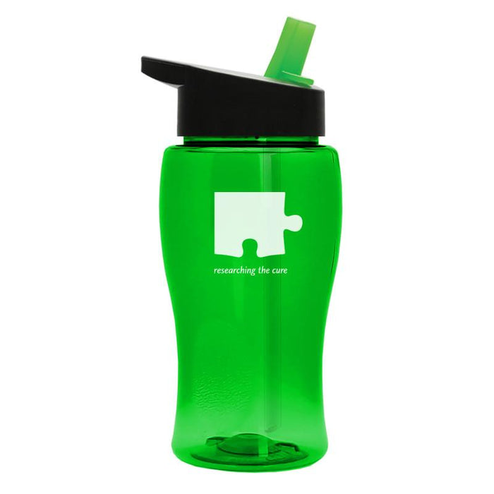 18 oz Transparent Bottle w/ Flip Straw Lid (Pack of 200),[wholesale],[Simply+Green Solutions]