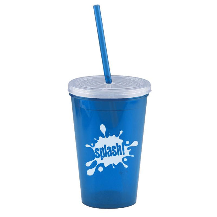 16 oz Insulated Straw Tumbler ,[wholesale],[Simply+Green Solutions]