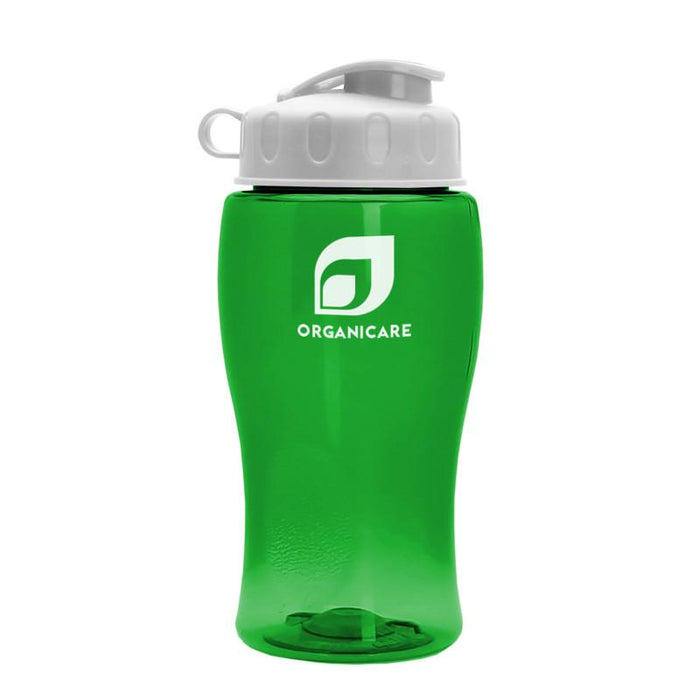 18 oz Transparent Bottle with Flip Lid (Pack of 200),[wholesale],[Simply+Green Solutions]
