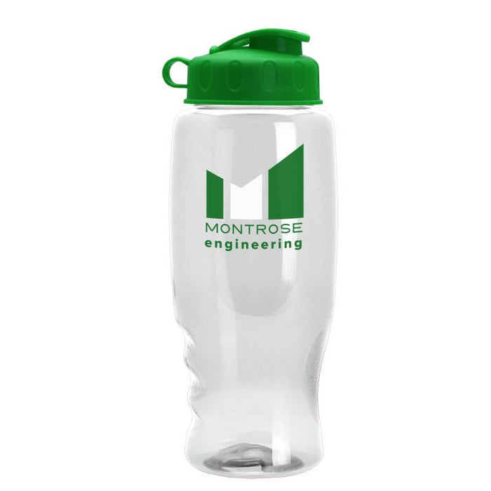 27 oz Poly Pure Transparent Bottle w/ Flip Lid ,[wholesale],[Simply+Green Solutions]