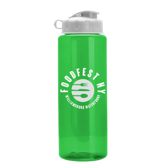 32 oz The Guzzler Transparent Color Bottles w/ Flip Lid ,[wholesale],[Simply+Green Solutions]