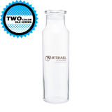 22 oz Glass with Colored Lid Vibe Water Bottles (Pack of 24)