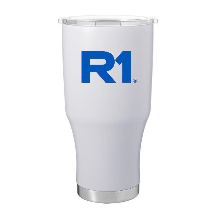 R1 28 oz Stainless Steel Thermal Tumbler with Silicone Straw