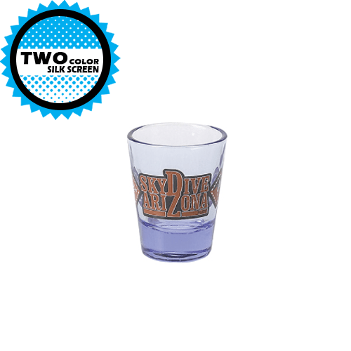 2 oz Blue Tint Clear Shote Glass (Import),[wholesale],[Simply+Green Solutions]