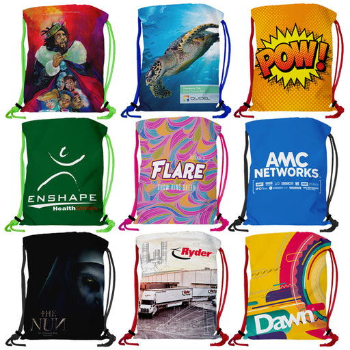Super Double Sided Sublimated Drawstring Backpack