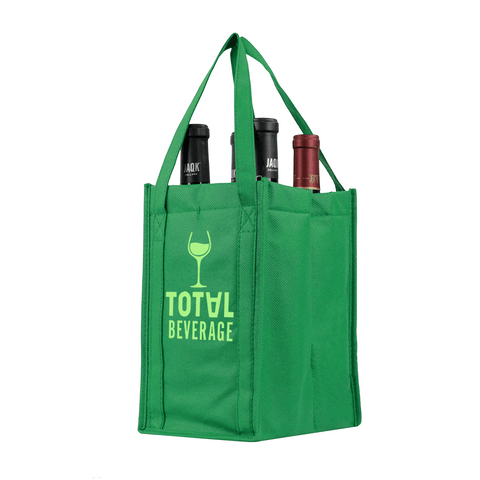 Four bottle Wine Tote, Double Layered *Fully Customizable*