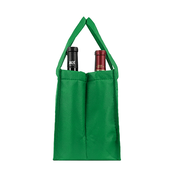 Four bottle Wine Tote, Double Layered *Fully Customizable*,[wholesale],[Simply+Green Solutions]