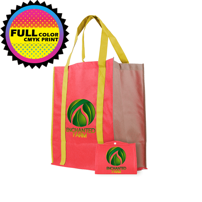 Foldable Reinforced Handle Tote *Fully Customizable* Bag Ban Approved,[wholesale],[Simply+Green Solutions]