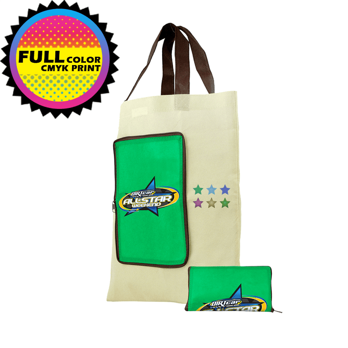 Foldable Zip Tote *Fully Customizable*,[wholesale],[Simply+Green Solutions]