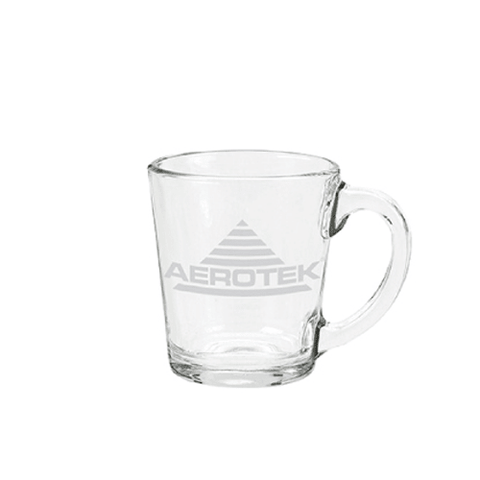 13 oz Glass Coffee Mug (Made in USA, Pack of 24)