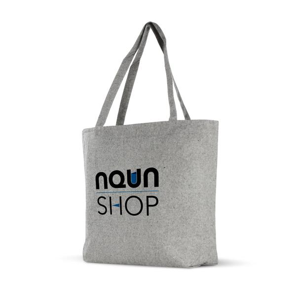 Zippered Top Grey Tweed Cotton Tote,[wholesale],[Simply+Green Solutions]