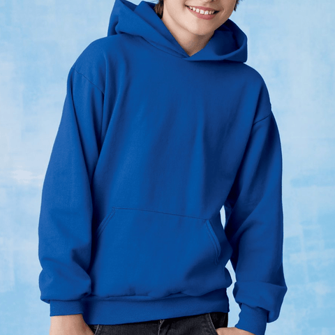 Hanes EcoSmart 50/50 Cotton Polyester 7.8 oz Youth Hooded Sweatshirt