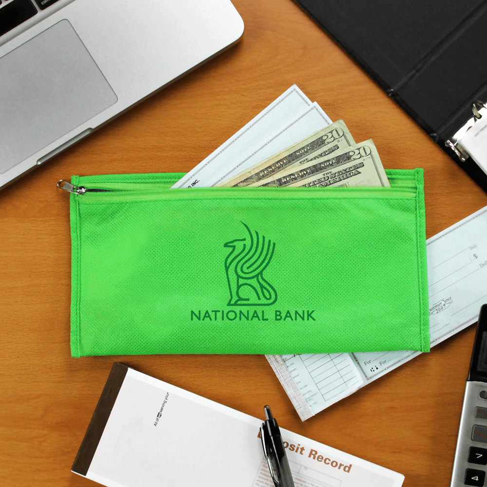 Promotional Money / Check Zipper Pouch,[wholesale],[Simply+Green Solutions]