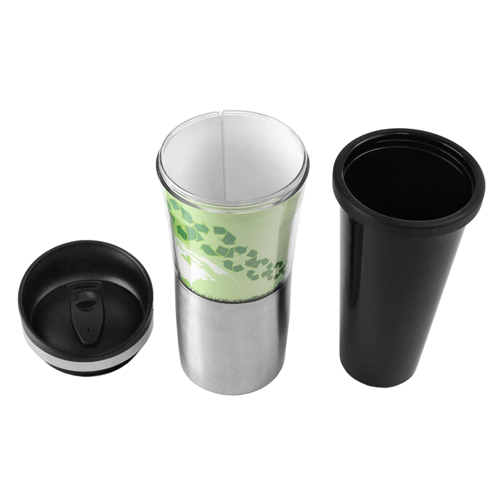 16 oz Paper Insert Tumbler w/ Plastic Lines (BPA Free),[wholesale],[Simply+Green Solutions]