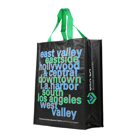 Woven Polypropylene Laminated Grocery Tote *Fully Customizable* Bag Ban Approved (Pack of 3000)