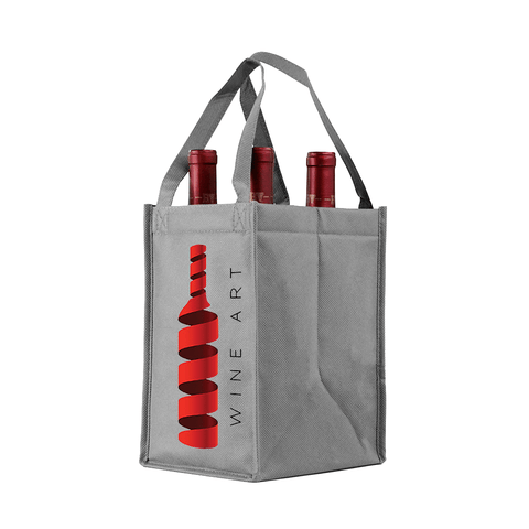 Four bottle Wine Tote, Double Layered Premium Plus  *Fully Customizable*
