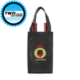 Four bottle Wine Tote, Reverse Reinforced Handles *Fully Customizable*