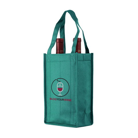 Two bottle Wine Tote, Reverse Reinforced Handles *Fully Customizable*