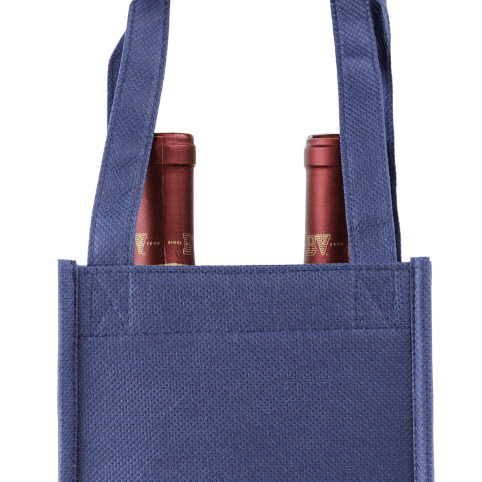 Two bottle Wine Tote, Double Layered Premium Plus *Fully Customizable*,[wholesale],[Simply+Green Solutions]