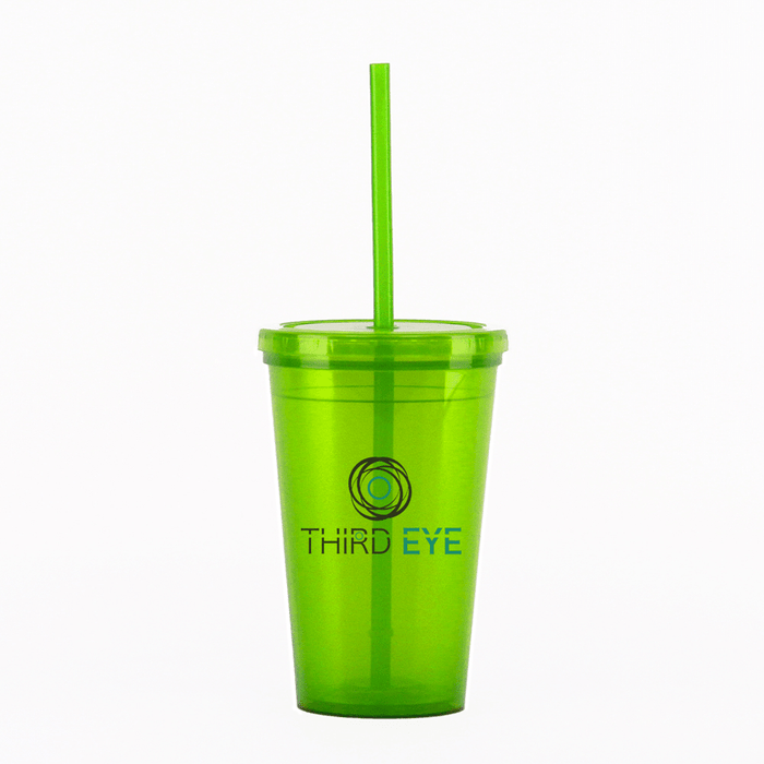 16 oz Double Walled Made in America BPA Free Plastic Tumblers (Pack of 60),[wholesale],[Simply+Green Solutions]
