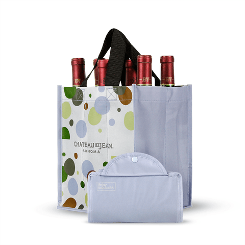 Foldable Non Woven Polypropylene CMYK Laminated Wine Tote *Fully Customizable*
