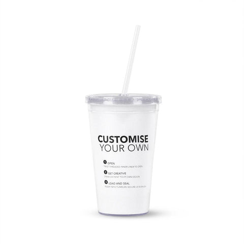 16 oz Double Walled Acrylic Tumblers Paper Insert