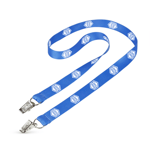 "3/4"" Digitally Sublimated Lanyard w/Double Standard Attachment"