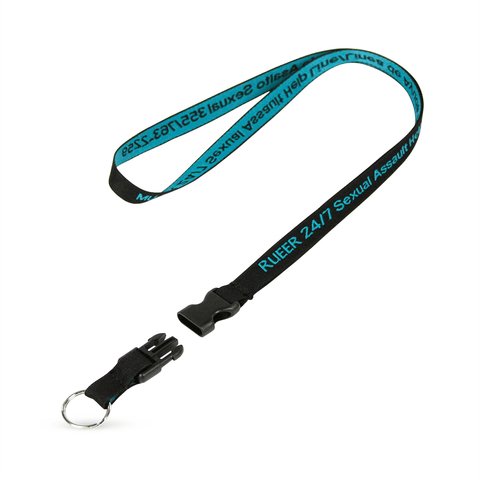 "1/2"" Detailed Coarse Weave Lanyard w/Detachable Buckle"