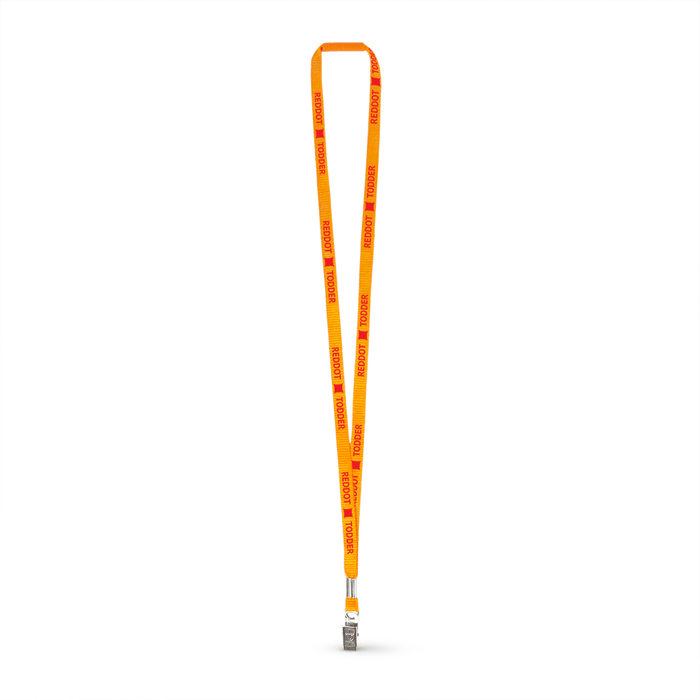 "3/8"" Flat Polyester Lanyard w/Bulldog Clip and a Breakaway - Blank,[wholesale],[Simply+Green Solutions]"