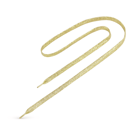 "3/8"" Silk Screened Tubular Gold Lace Lanyard"