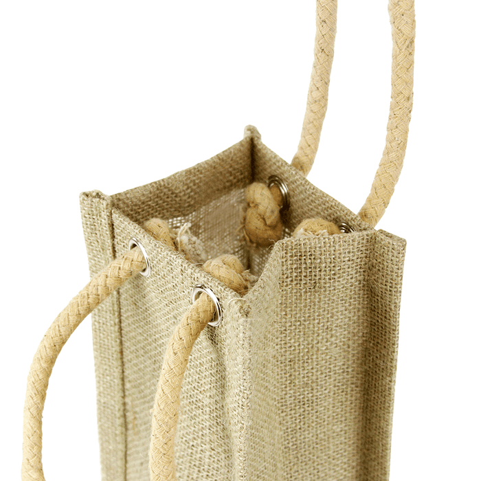 Single Bottle Jute Bag w/Rope Handle,[wholesale],[Simply+Green Solutions]