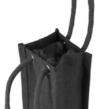 Single bottle Jute Bag with Rope Handle