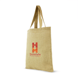 Jute Shopping Bag with cotton webbed handles