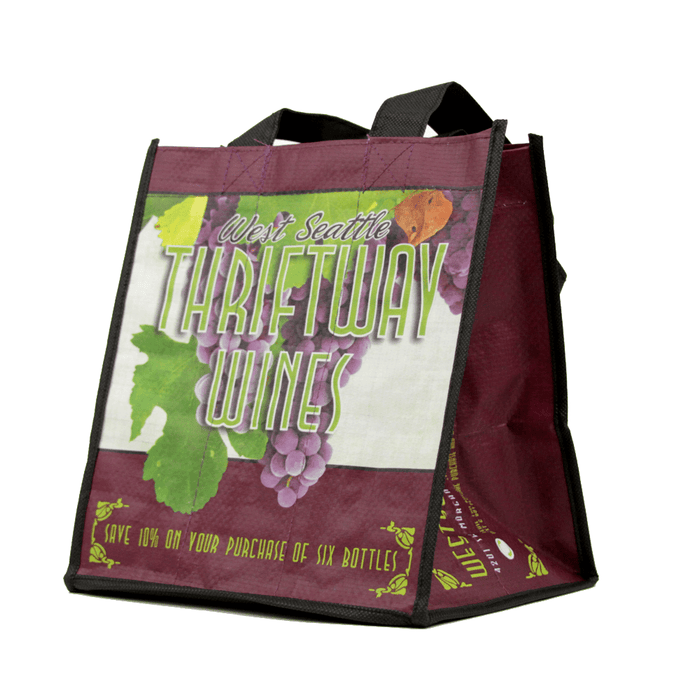 Non Woven Polypropylene CMYK Laminated Wine Tote *Fully Customizable*,[wholesale],[Simply+Green Solutions]