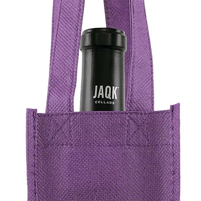 Single bottle Wine Tote, Reverse Reinforced Handles *Fully Customizable*,[wholesale],[Simply+Green Solutions]