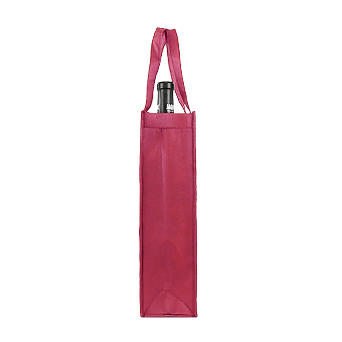 Single bottle Wine Tote, Double Layered Premium Plus *Fully Customizable*,[wholesale],[Simply+Green Solutions]