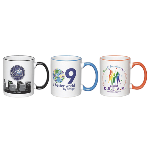 ( Out of Stock)  C-Handle Ceramic Mug with Halo,[wholesale],[Simply+Green Solutions]