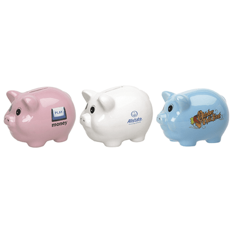Ceramic Piggy Banks (medium) (Pack of 24)