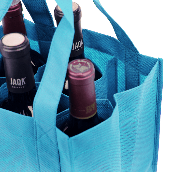 Six bottle Wine Tote, Reinforced Handles *Fully Customizable*,[wholesale],[Simply+Green Solutions]