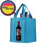 Six bottle Wine Tote, Reinforced Handles *Fully Customizable*