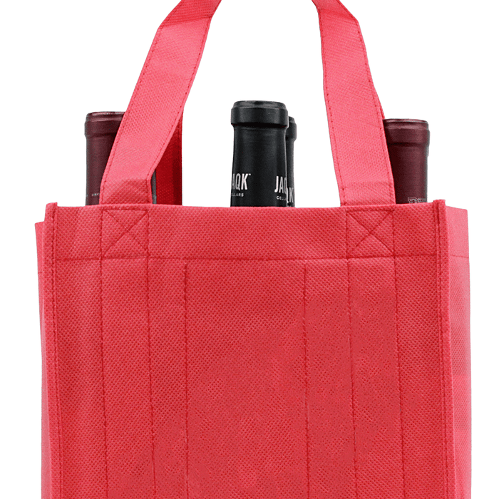Six Bottle Wine Tote, Reverse Reinforced Handles *Fully Customizable*,[wholesale],[Simply+Green Solutions]