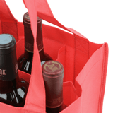 Six Bottle Wine Tote, Reverse Reinforced Handles *Fully Customizable*